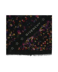 Givenchy - Gw1414 Sd515 1 Black Printed Scarf - Lyst