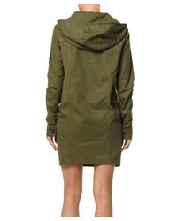 Saint Laurent - Women's Green Cotton Jacket - Lyst