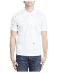 DSquared² - Men's S71dm0076s44131100 White Cotton Polo Shirt for Men - Lyst