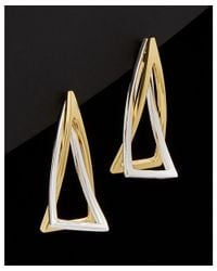 Argento Vivo - Multicolor 18k Over Silver Triangle Earrings - Lyst