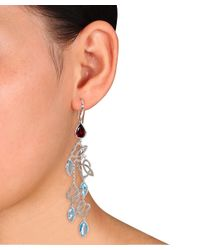 Julianna B - Metallic Blue Topaz & Swiss Blue Topaz Rhodolite Cuff Earrings - Lyst