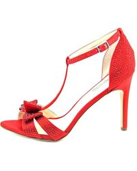 INC International Concepts - Red Womens Reesie Leather Open Toe Ankle Strap Classic... - Lyst