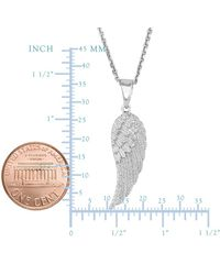 JewelryAffairs - White Sterling Silver Angel Wing Pendant Necklace, 18 - Lyst