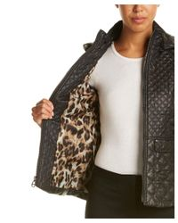 Laundry by Shelli Segal | Black Quilted Jacket | Lyst