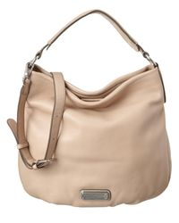 Marc By Marc Jacobs | Natural Q Hillier Leather Hobo | Lyst