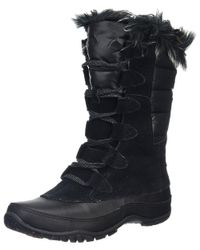 The North Face - Black 'nuptse Purna' Waterproof Primaloft Eco Insulated Winter Boot - Lyst