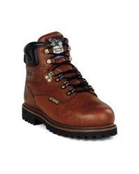 "Georgia Boot - Brown Men's G63 6"" Safety Toe Metatarsal Comfort Core Welt for Men - Lyst"