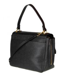 Moschino - Women's Black Leather Shoulder Bag - Lyst