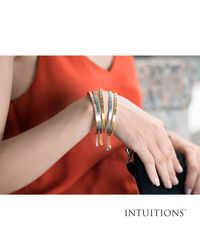 """JewelryAffairs - Multicolor Intuitions Stainless Steel I Was Born To Be Awesome Diamond Accent Cuff Bangle Bracelet, 7"""" - Lyst"""