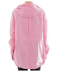 Theory - Women's Pink Polyamide Outerwear Jacket - Lyst