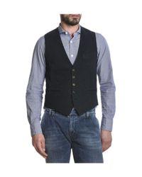 Eleventy - Men's Blue Cotton Vest for Men - Lyst