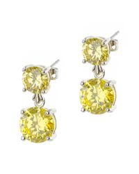 CZ by Kenneth Jay Lane | Yellow Plated Earrings | Lyst