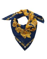 Roberto Cavalli - C3602c840 307 Blue/gold Jewel Scarf - Lyst