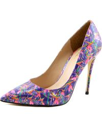Nicole Miller - Multicolor Maison Women Pointed Toe Patent Leather Multi Color Heels - Lyst