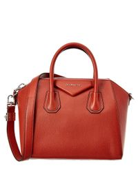 Givenchy - Orange Small Antigona Leather Satchel - Lyst