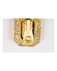 Kenneth Jay Lane - Metallic 1 Gold-tone Emerald Cut Rhinestone Rectangular Clip On Earrings - Lyst