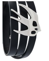 McQ Alexander McQueen - Women's Black Leather Bracelet - Lyst