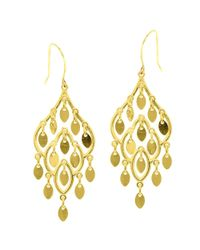JewelryAffairs - 10k Yellow Gold Fancy Chandelier Drop Earrings With French Wire Clasp - Lyst