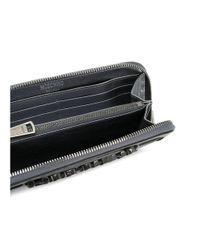 Moschino - Metallic Women's Silver Leather Wallet - Lyst