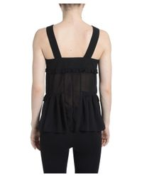 Romeo and Juliet Couture - Black Sleeveless Buttoned Tank Top - Lyst