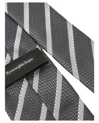 Z Zegna - Gray Men's Grey Silk Tie for Men - Lyst