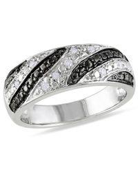 Catherine Malandrino - Metallic White Diamond Ring - Lyst