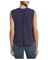 Rebecca Taylor - Blue Tie-neck Silk Top - Lyst