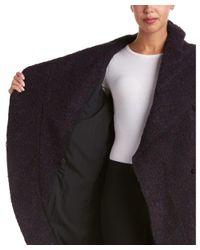 Zac Zac Posen | Blue Camilla Boucle Wool-blend Wrap Coat | Lyst