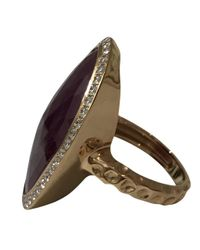 Barry Brinker - Red Ruby And Diamond Bezel Set Ring - Lyst