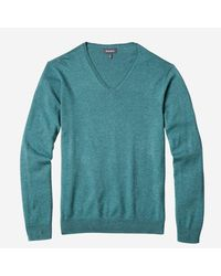 Bonobos - Blue Cotton Cashmere V-neck Sweater for Men - Lyst
