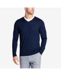 Bonobos - Blue Merino V-neck Sweater for Men - Lyst