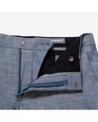 Bonobos - Blue Foundation Chambray Suit Pant for Men - Lyst