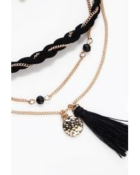 Boohoo - Metallic Wendy Tassel Plait And Chain Anklet 3 Pack - Lyst