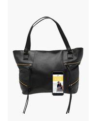 Boohoo - Black Crosshatch Zip Detail Day Bag - Lyst