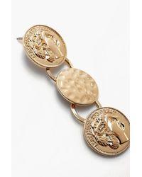 Boohoo - Metallic Sovereign Drop Coin Earrings - Lyst