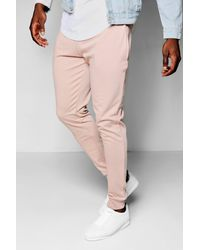 Boohoo - Pink Tapered Jogger for Men - Lyst