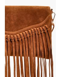 Boohoo - Brown Emily Fringed Suedette Cross Body Bag - Lyst
