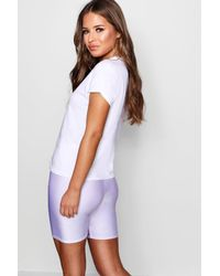 Boohoo - White Petite Woman Printed T-shirt - Lyst