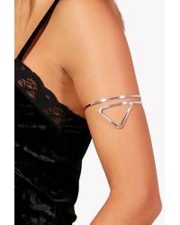 Boohoo - Metallic Triangle Arm Cuff - Lyst