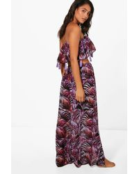 Boohoo - Purple Rain Forest Tassel Beach Co-ord Set - Lyst