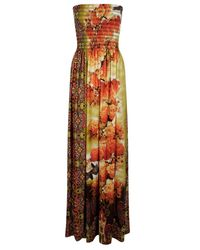Boohoo - Yellow Louise Printed Maxi - Lyst