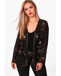 Boohoo - Black Plus Megan Embellished Jacket - Lyst