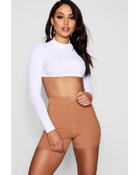 Boohoo - Multicolor Ribbed Cycling Shorts - Lyst