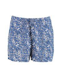 Boohoo - Blue Amy Floral Print Flippy Shorts - Lyst