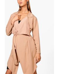 Boohoo - Orange Lily Waterfall Crepe Jacket - Lyst