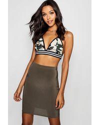 ed371c407d Boohoo Tall Slinky Mini Skirt - Lyst
