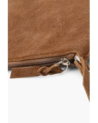 Boohoo - Brown Real Suede Cross Body Bag - Lyst