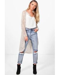 Boohoo | Multicolor Holly Crochet Cardigan | Lyst