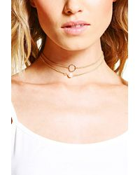 Boohoo - Metallic Dainty Pearl And Circle Necklace Pack - Lyst