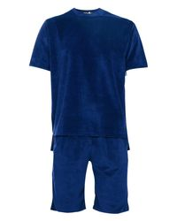 Boohoo - Blue Towelling T-shirt And Short Set for Men - Lyst
